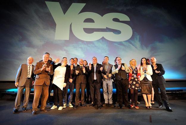"""Salmond i zwolennicy niepodległości namawiają do głosowania na """"tak"""" /AFP"""