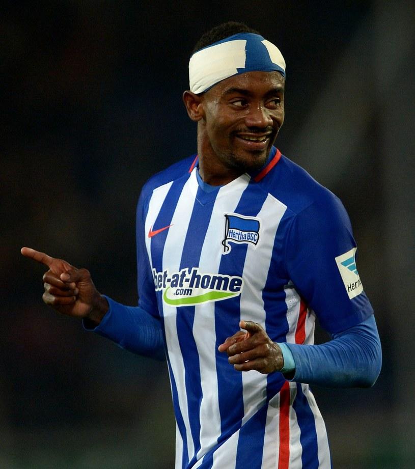 Salomon Kalou strzelił trzy bramki dla Herthy w meczu z Hannoverem /PAP/EPA