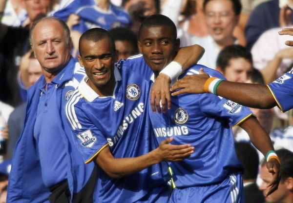Salomon Kalou (z prawej) i Jose Bosingwa /. /AFP