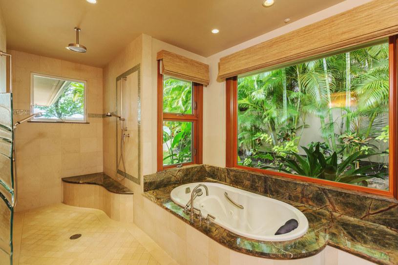 Salon kąpielowy z dużym, przestronnym oknem /123RF/PICSEL