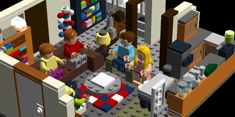 Salon Sheldona i Leonarda w wersji LEGO /ideas.lego.com /internet