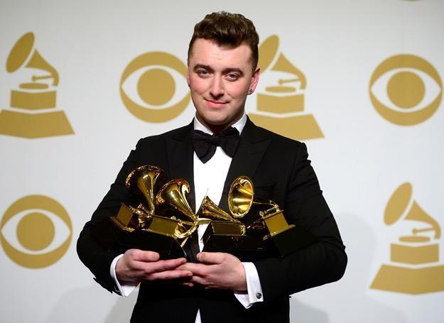 Sam Smith i jego nagrody Grammy - fot. Frazer Harrison /Getty Images