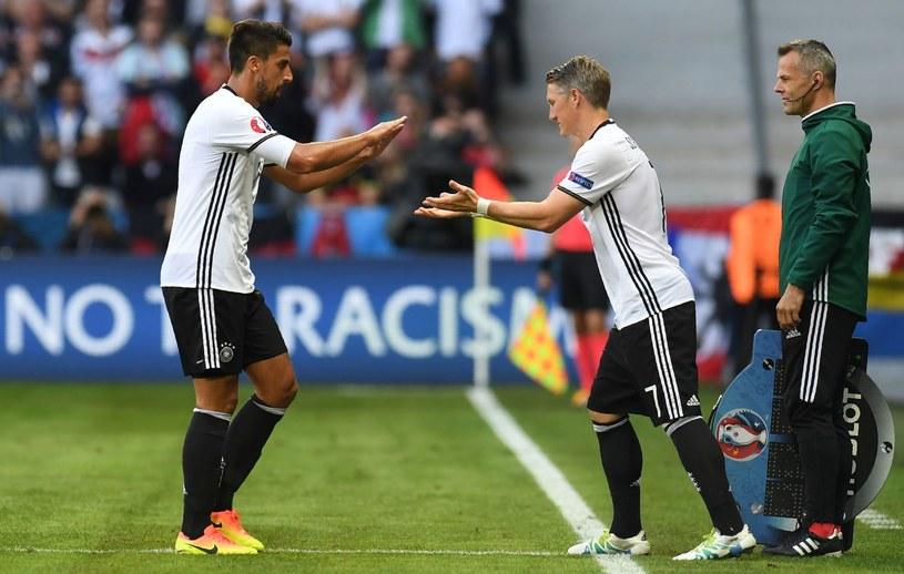 Sami Khedira (z lewej) i Bastian Schweinsteiger /AFP