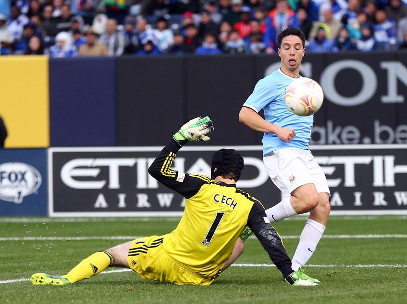 Samir Nasri strzelił w meczu z Chelsea dwa gole /AFP