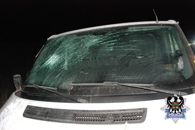 Samochód biorący udział w wypadku /Policja
