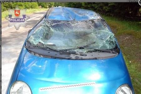 Samochód dachował /Policja