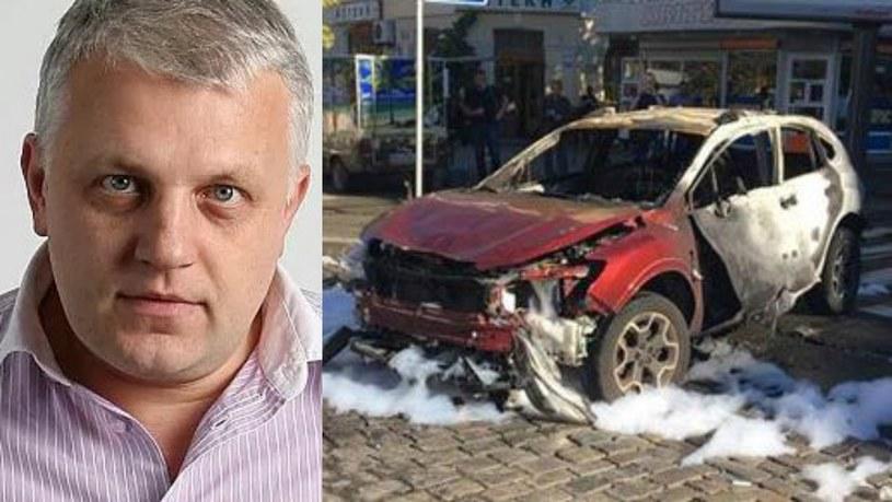 Samochód eksplodował na skrzyżowaniu w samym centrum Kijowa /Twitter
