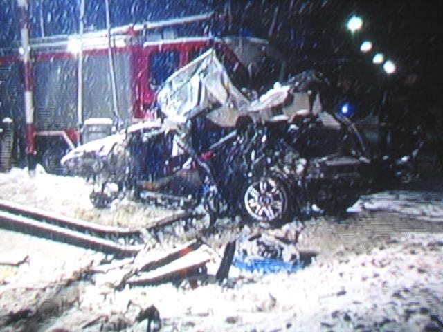 Samochód J. Kuliga po wypadku / kliknij /RMF