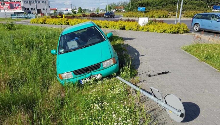 Samochód, którym poruszał się 44-latek /Policja