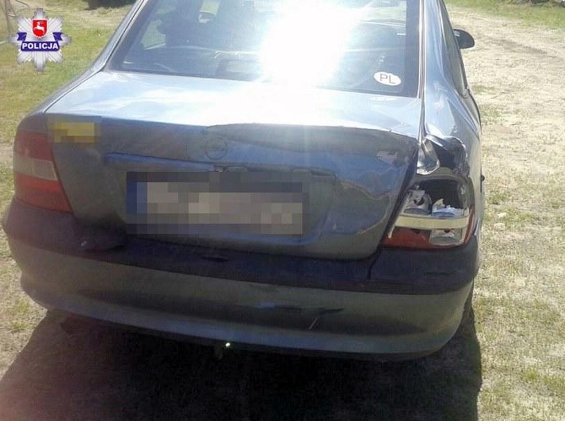 Samochód miał drobne uszkodzenia /
