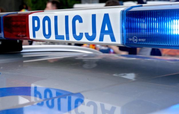 Samochód osobowy hyundai, którym jechały dwie osoby, z niewiadomych przyczyn uderzył w drzewo /Damian Klamka /East News