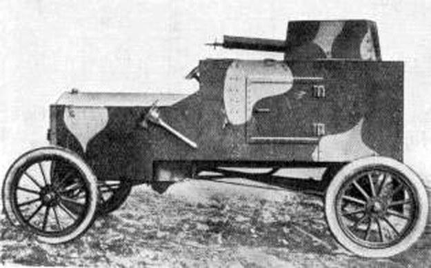 Samochód pancerny ford FT-B skonstruowany przez inżyniera Tadeusza Tańskiego /Archiwum Tomasza Szczerbickiego