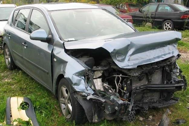 Samochód po wypadku... /