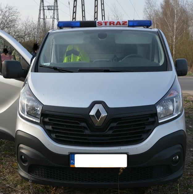 Samochód przemytników miał imitować pojazd straży pożarnej /Straż Graniczna /Straż Graniczna
