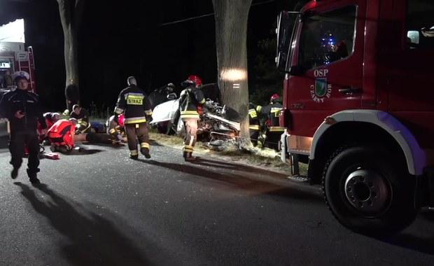 Samochód uderzył w drzewo. Dwie młode osoby nie żyją