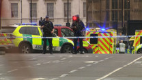 Samochód wjechał w bariery przed parlamentem w Londynie