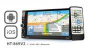 Samochodowe centrum multimedialne z nawigacją GPS