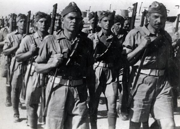 Środkowy Wschód, przemarsz żołnierzy Samodzielnej Brygady Strzelców Karpackich
