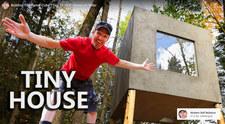 Samodzielnie zbudował dom w środku lasu