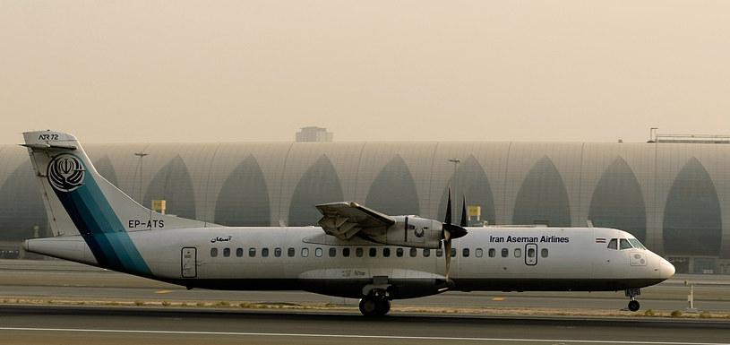 Samolot ATR 72 linii Aseman / MARWAN NAAMANI /AFP