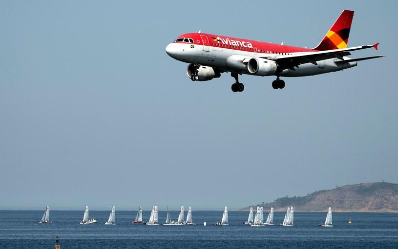 Samolot linii lotniczych Avianca /VANDERLEI ALMEIDA /AFP