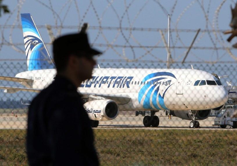 Samolot linii lotniczych EgyptAir /KATIA CHRISTODOULOU  /PAP/EPA