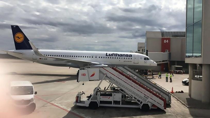 Samolot linii lotniczych Lufthansa /CEN    /East News