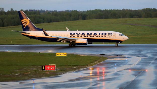 Samolot linii Ryanair zatrzymany w Mińsku /STRINGER /PAP/EPA