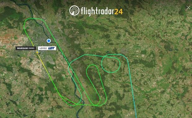 Samolot LOT-u lądował z uszkodzoną oponą na warszawskim lotnisku Chopina