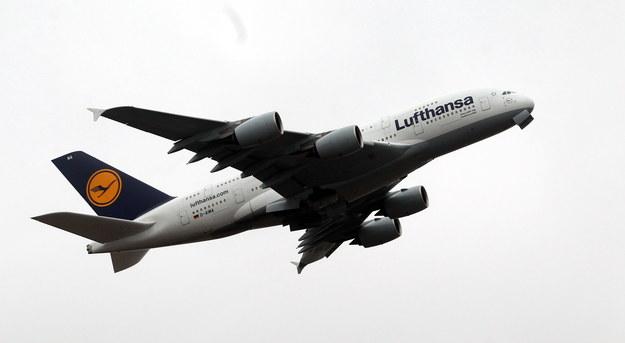 Samolot Lufthansy /Radek Pietruszka /PAP