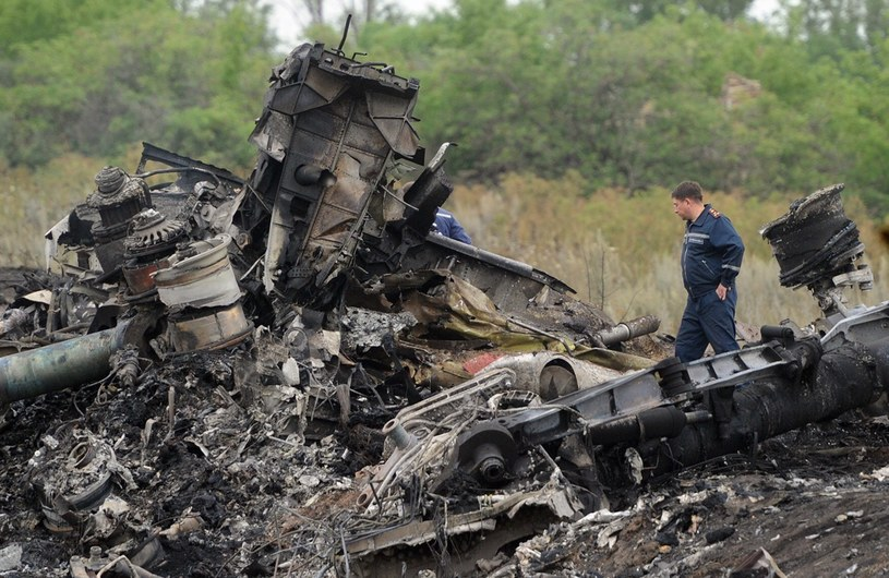 Samolot Malaysia Airlines zestrzelony nad terytorium Ukrainy /DOMINIQUE FAGET /AFP