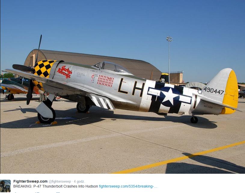 Samolot myśliwski P-47 Thunderbolt /Twitter