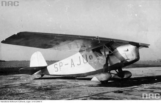 Samolot rwd-5bis, na którym kpt. Stanisław Skarżyński dokonał przeloty przez Atlantyk Południowy /Z archiwum Narodowego Archiwum Cyfrowego