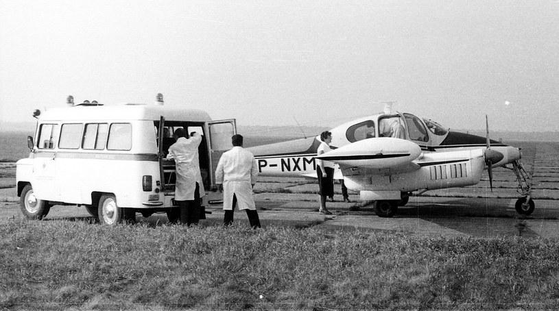 Samolot sanitarny L-200 Morava lata 80. /Miłosz Rusiecki /Muzeum Ratownictwa w Krakowie