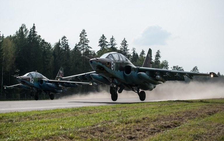 Samolot szturmowy Su-25, zdj. ilustracyjne /AFP