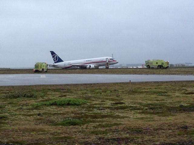 Samolot wylądował bez podwozia /www.skyscrapercity.com /