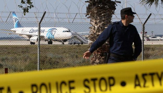 Samolot wylądował na lotnisku na Cyprze /KATIA CHRISTODOULOU  /PAP/EPA