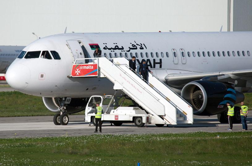 Samolot wylądował na Malcie /PAUL SPITERI LUCAS /PAP/EPA