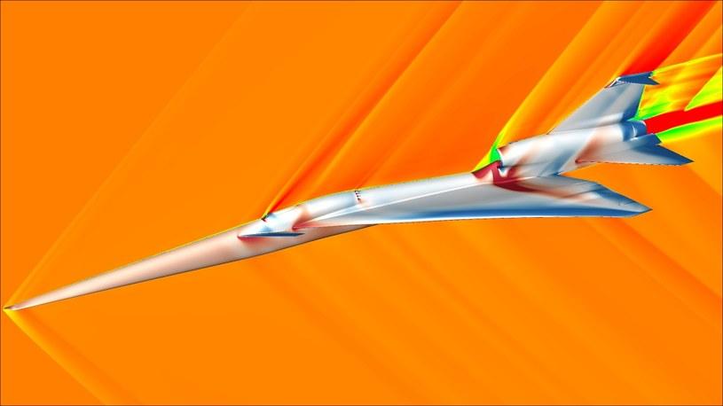 Samolot X-59 będzie cichszy od innych maszyn supersonicznych /materiały prasowe