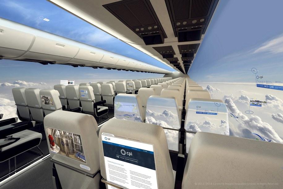 Samolot z ekranami OLED / EPA/CPI  /PAP/EPA