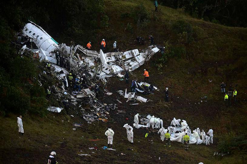Samolot z piłkarzami Chapecoense zrobił się 29 listopada 2016 r. w pobliżu Medellin w Kolumbii /AFP /East News