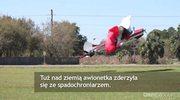 Samolot zderzył się ze spadochroniarzem. Awionetka runęła na ziemię