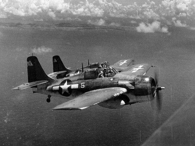 Samoloty FM-2 w locie nad Wyspami Mariańskimi 24 czerwca 1944 roku /YouTube