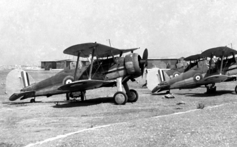 Samoloty Gloster Sea Gladiator na Malcie w 1940 roku /War Museum Valletta /materiały prasowe