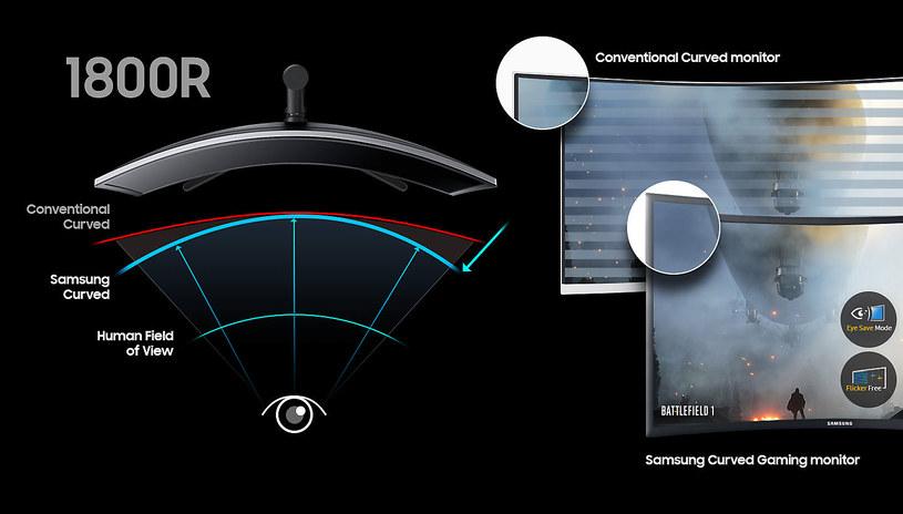 Samsung CFG73 - zakrzywiony ekran /materiały prasowe