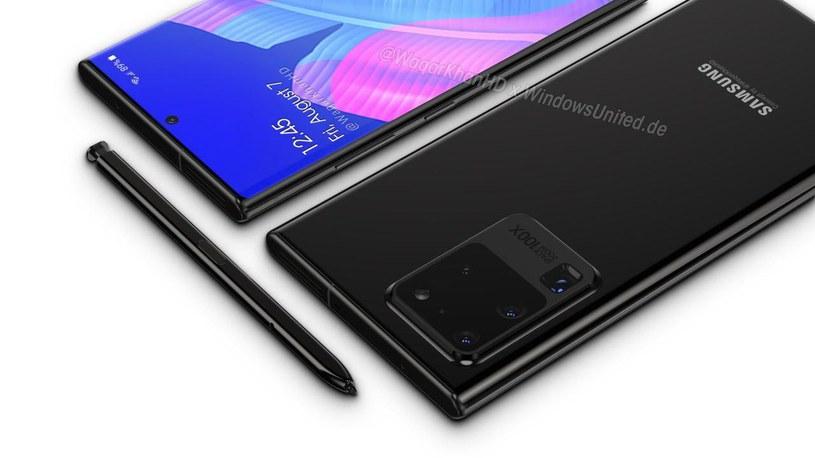 Samsung Galaxy Note 20 - render / fot. PhoneArena /materiał zewnętrzny