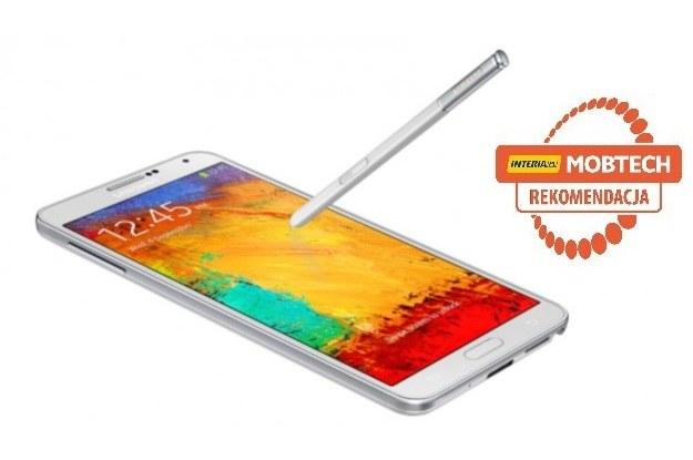 Samsung Galaxy Note 3 otrzymał rekomendację serwisu mobtech.interia.pl /materiały prasowe