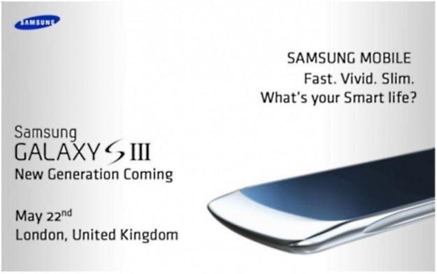 Samsung Galaxy S III - domniemane zaproszenie na prezentacje telefonu.  fot. media.daum.net /Komórkomania.pl