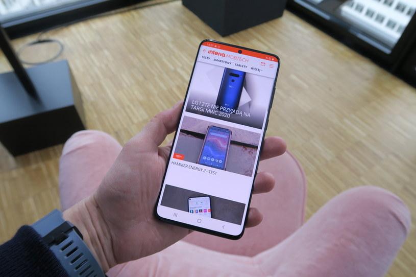 Samsung Galaxy S20+ /INTERIA.PL