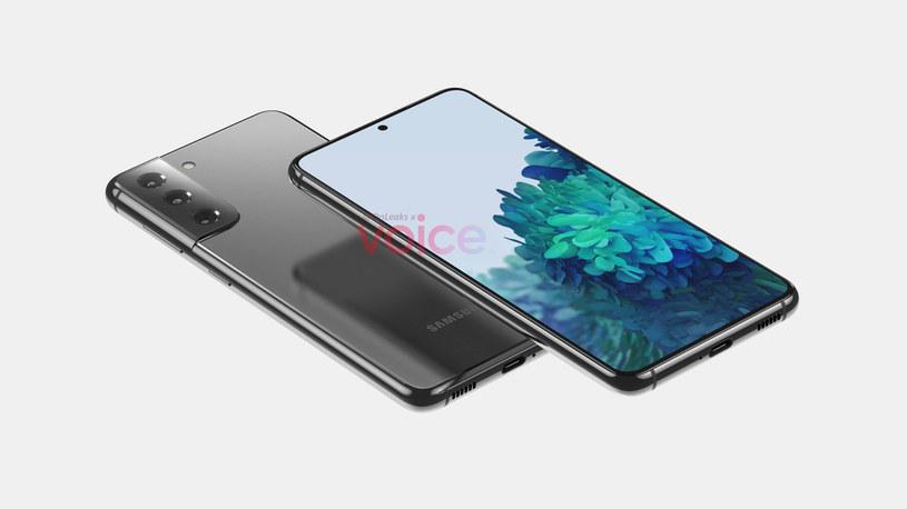 Samsung Galaxy S21 render / fot. OnLeaks /materiał zewnętrzny